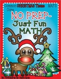 NO PREP Math Fun Christmas Packet Common Core n MAFS First Grade Envision