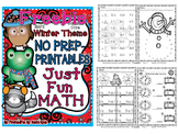 NO PREP Math Fun Winter Common Core n MAFS First Grade Freebie