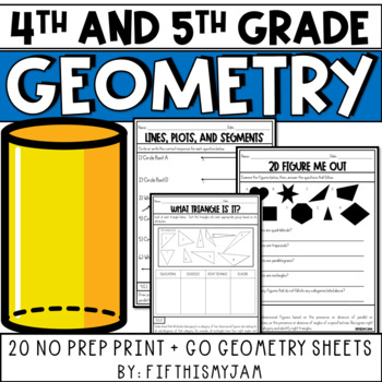 NO PREP Math // Fun With Geometry - Fourth & Fifth