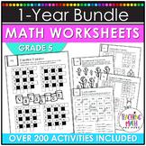 Math Worksheets 5th Grade Bundle