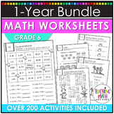 Math Worksheets 6th Grade BUNDLE