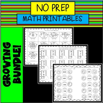 NO PREP Math Printables BUNDLE