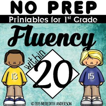 NO PREP Math Printables - Fluency within 20
