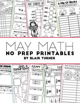 NO PREP Math Printables - MAY