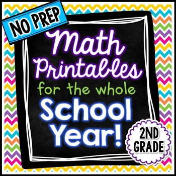 NO PREP Math - 2nd Grade