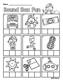 NO PREP Math and Literacy Packet Kindergarten Set 1 Reading Math Kinder