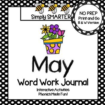 NO PREP May Word Work Journal