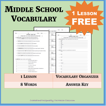 NO PREP Middle School Vocabulary - FREE