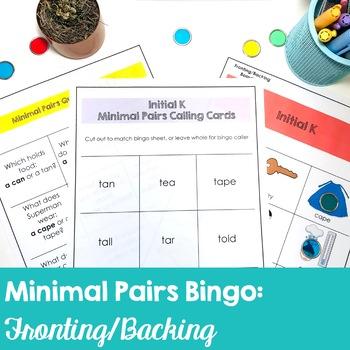 No-Prep Minimal Pairs Bingo for Fronting/Backing