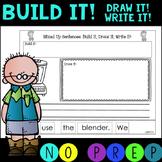 NO PREP!  Mixed Up Sentences for Blends!  Build it! Draw i
