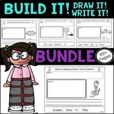 A NO PREP! BUNDLE Mixed Up Sentences!  Build it! Draw it! Write it!