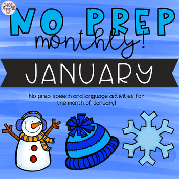 NO PREP Monthly Speech and Language Therapy - January!