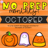 NO PREP Monthly Speech and Language Therapy - October!