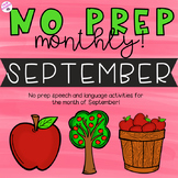 NO PREP Monthly Speech and Language Therapy - September!