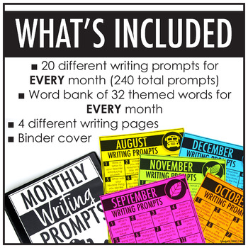 monthly writing prompts Third grade monthly writing prompts the first two prompts in bold under each month are suggested assessment prompts of which one should be turned in monthly the assessment prompts should show the power steps (grades 3, 4, 5) the other prompts or writing activities could also be done in writing centers, journals, morning.