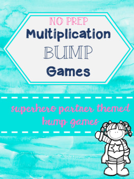 NO PREP Multiplication Bump Game Superhero Themed