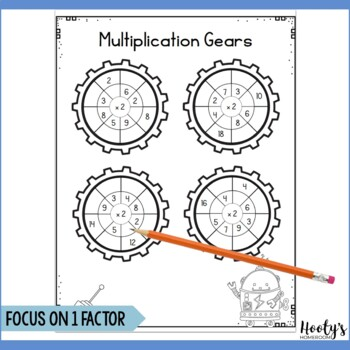 NO PREP Multiplication Fact Practice for Centers