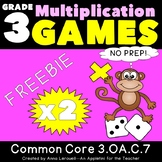 NO PREP Multiplication Roll to Win Game x2 FREEBIE