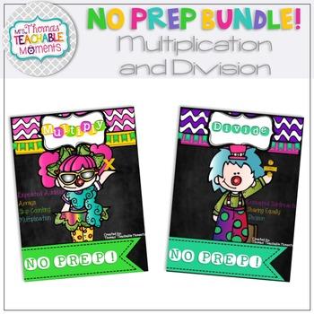 NO PREP! Multiplication and Division Bundle
