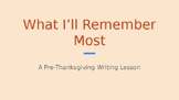 NO PREP NEEDED Gratitude Writing Lesson