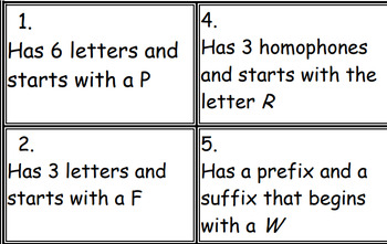 NO PREP NEEDED- Upper Grades - 60 Open Ended Dictionary Detective Task cards