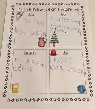 New Years Writing Activity NO PREP