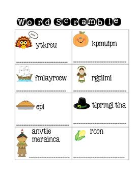 Thanksgiving Activities NO PREP November Activity Book