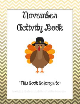 thanksgiving activities no prep november activity book tpt