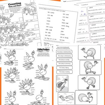 NO PREP November Learning Pack for 1st Grade