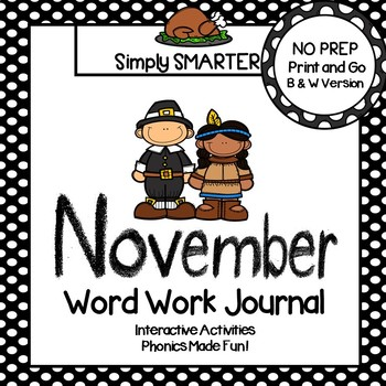 NO PREP November Word Work Journal