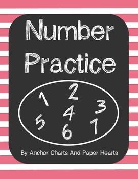 NO PREP Number Practice 1-30 Printable