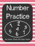 NO PREP Number Practice 1-30 Printable