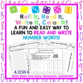 NO PREP! Reading and Writing Number Words, Activity,Game,Homework,and MORE