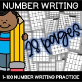 NO PREP Number Writing 0-10, 20, 30, 50, 75, and 100