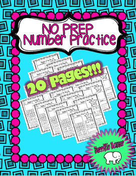 NO PREP Number Sense : Number of the Day