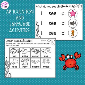 NO PREP Ocean-Themed Speech and Language Activities!