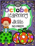 *NO PREP* October Learning Skills
