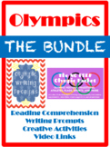 NO PREP Olympic Reading & Writing ELA BUNDLE- Worksheets, Prompts, & Activities