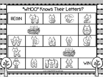 NO PREP Owl Math and Literacy Games Bundle