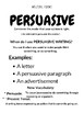 NO PREP PACK - Grades 1-3 - Persuasive Writing - Ink Saver - (Ontario)