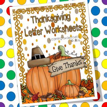 Thanksgiving Letter Worksheets