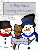 Snowmen Worksheets