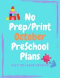NO PREP/PRINT October Lesson Plans