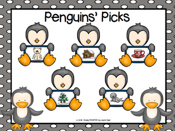 NO PREP Penguin Themed Math and Literacy Games Bundle
