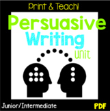 NO PREP Persuasive Writing Unit, PDF