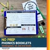 NO PREP Phonics Booklets | Phonics Worksheets | Distance Learning
