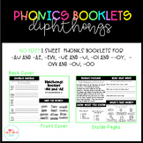 NO PREP Phonics Booklets for Diphthongs
