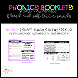NO PREP Phonics Booklets for Silent Consonants and Hard an