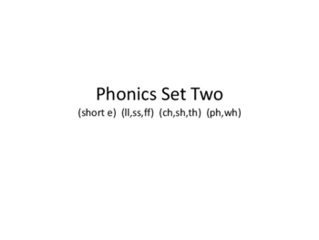 NO PREP Phonics Card Set 2