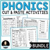 NO PREP Phonics Cut and Paste Activities BUNDLE